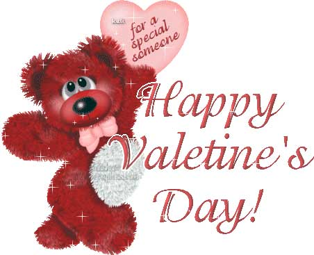 Happy Valentines Bear Wish