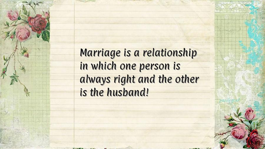 Which One Person Always Right And The Other Husband