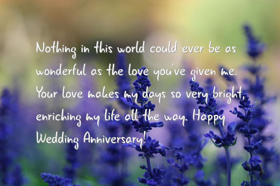 Wedding anniversary cards for husband