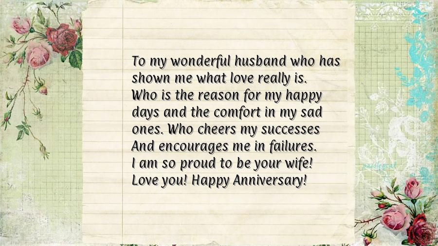 Happy anniversary messages to husband