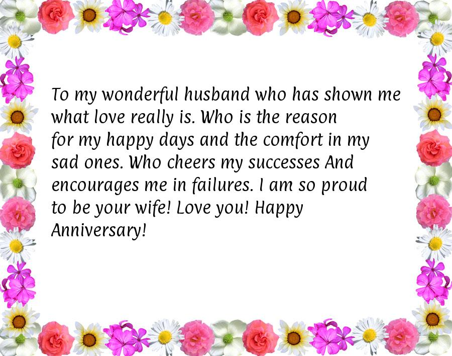 To my wonderful husband who quotes for anniversary for husband jpg