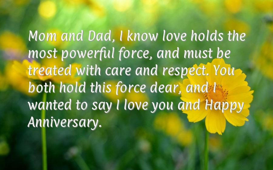 Anniversary quotes to parents