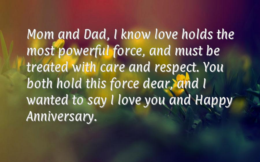 Anniversary wishes parents