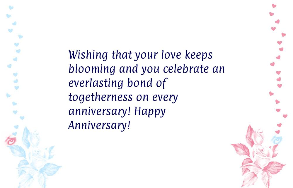 Wishing that your love keeps blooming and you celebrate an everlasting ...