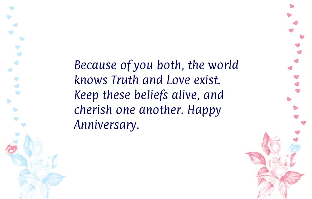 Wishes for anniversary