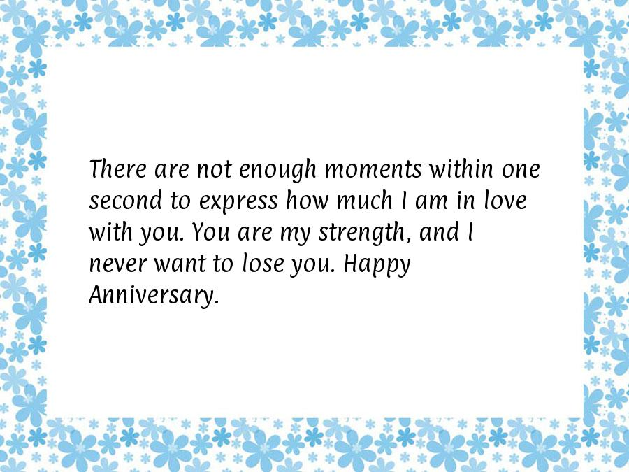 Wedding anniversary message to wife