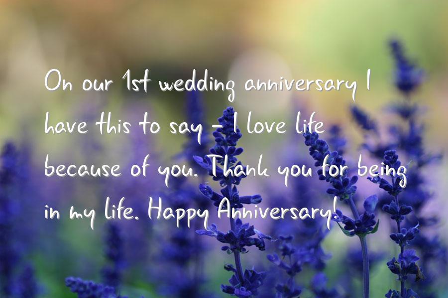 Happy wedding anniversary to my husbandHappy 1st Anniversary To My Husband