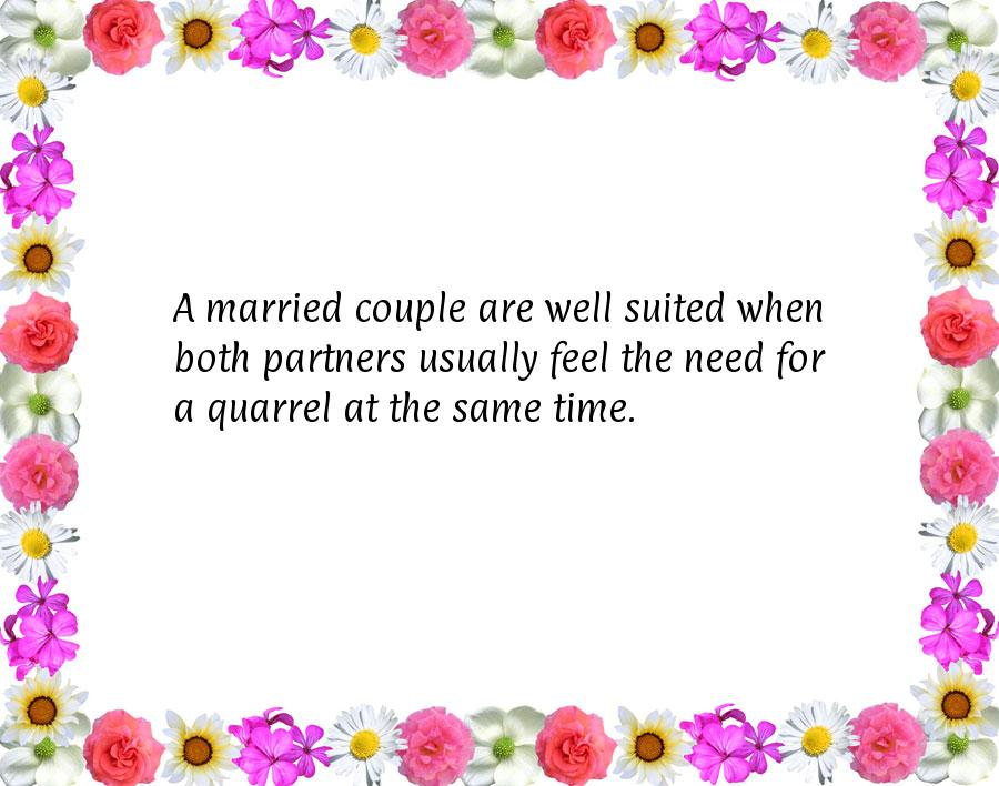 Funny marriage sayings