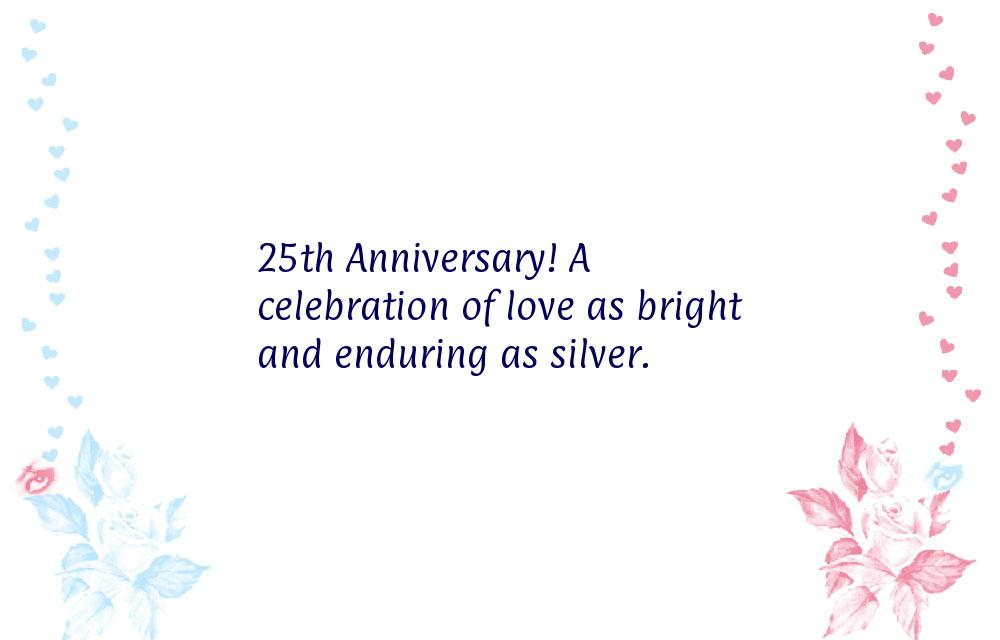 25th marriage anniversary wishes