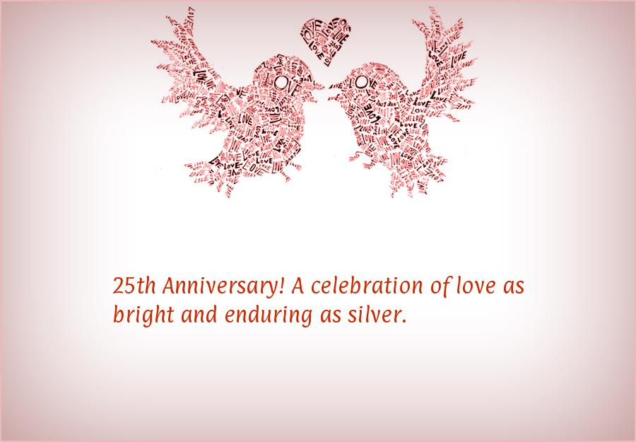 25th wedding anniversary wishes or messages