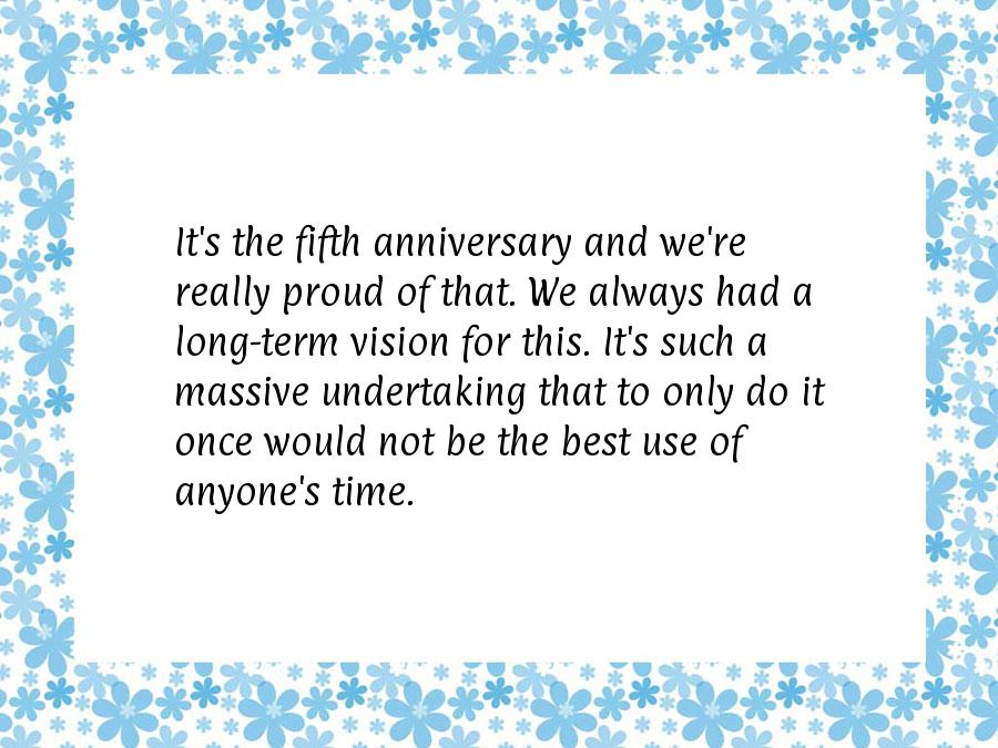 5 year business anniversary quotes