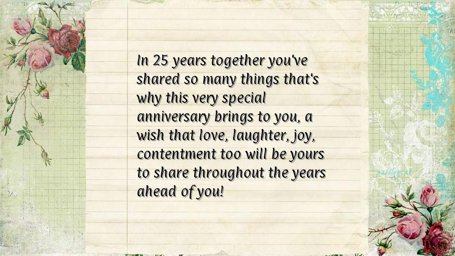25th Wedding Anniversary Quotes | myideasbedroom.com