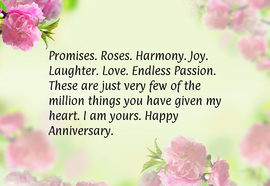Anniversary wishes for him