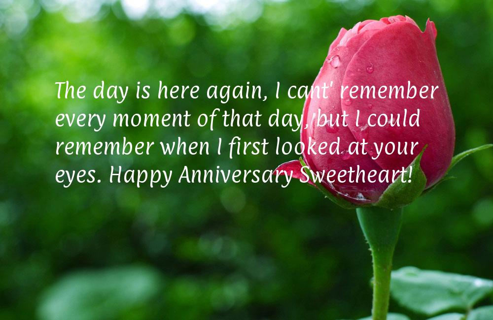Wedding anniversary message for wife