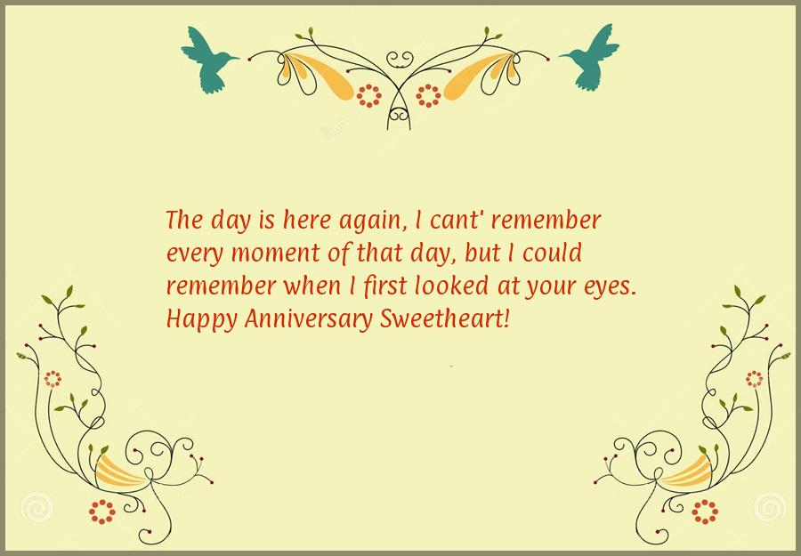 Wedding anniversary wishes for wife from husband
