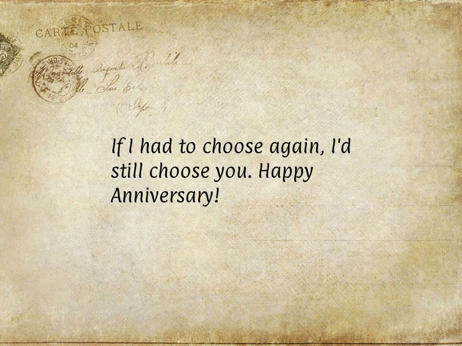 Classic Paper Letter Wedding Anniversary Quotes For Husband Funny