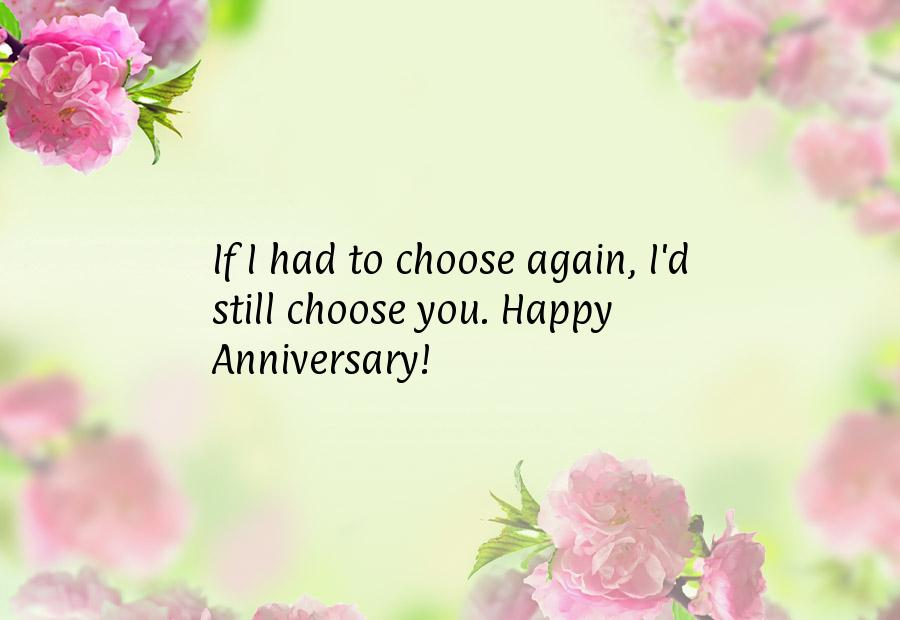 Had Choose Again Still You Happy Anniversary