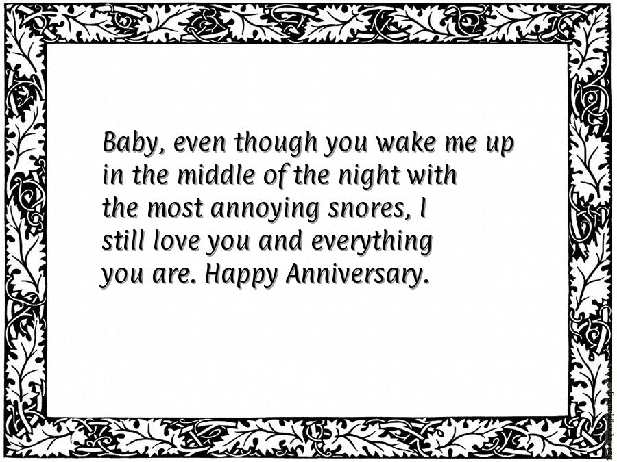 happy anniversary quotes for him funny
