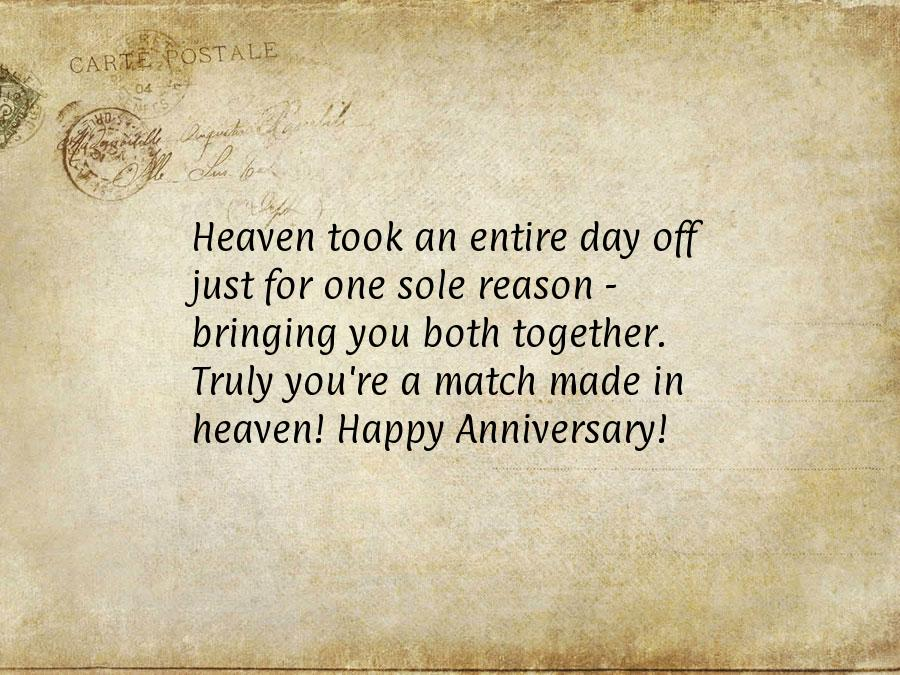 Anniversary wishes to friends