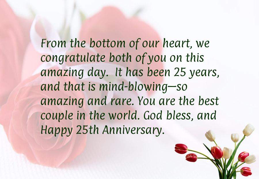 25 marriage anniversary wishes