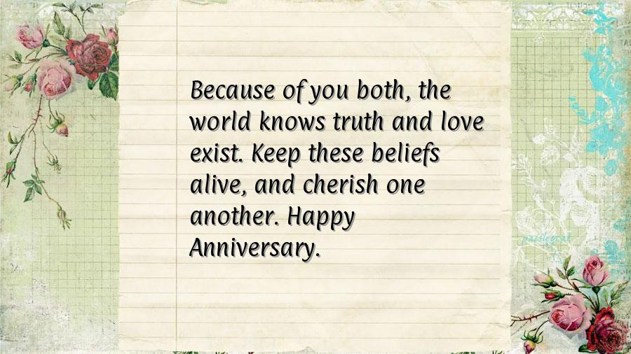 Happy wedding anniversary sms