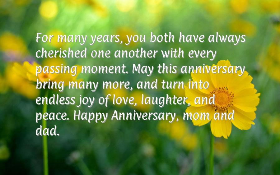 Happy anniversary wishes for parents