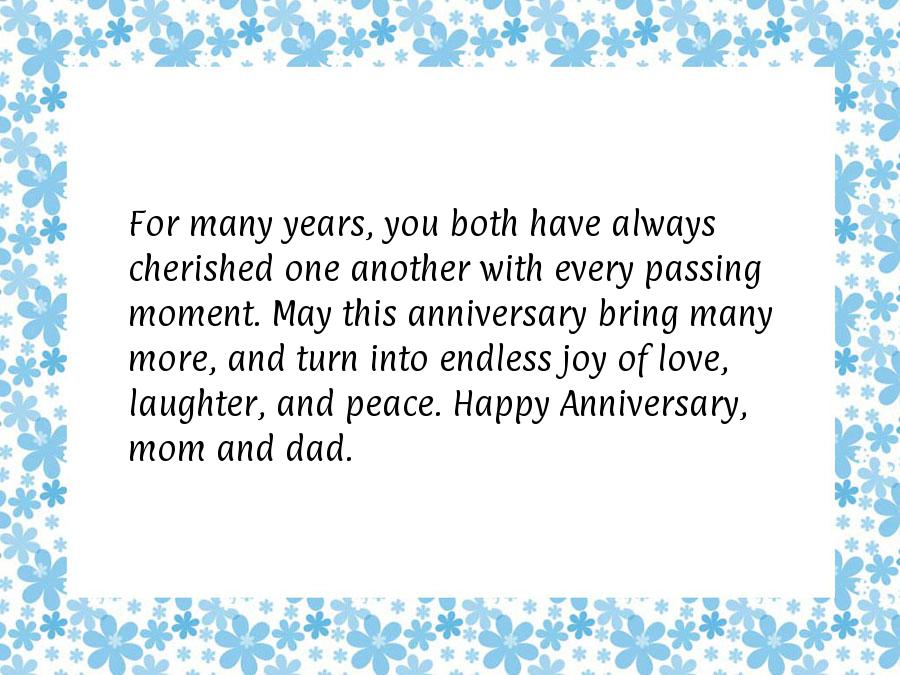Parents wedding anniversary wishes