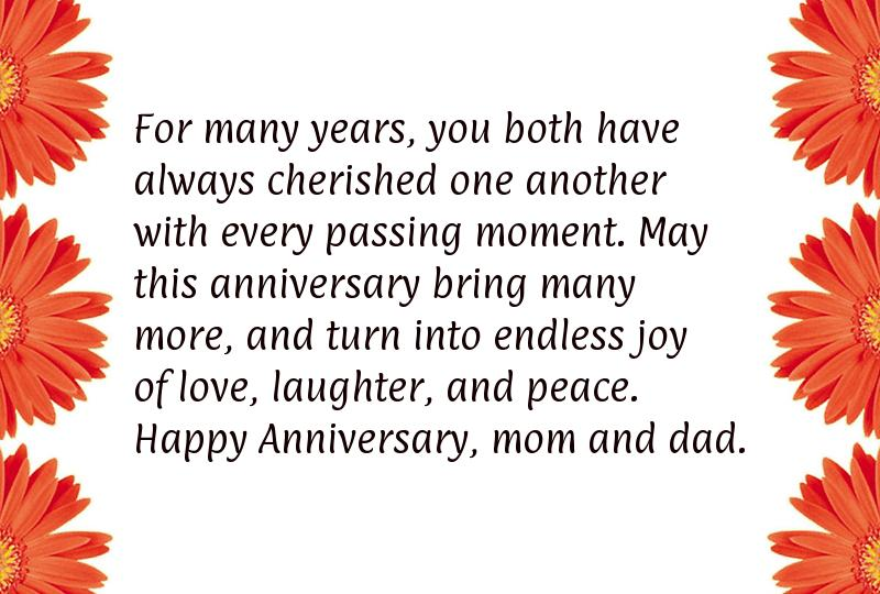 Parents anniversary wishes