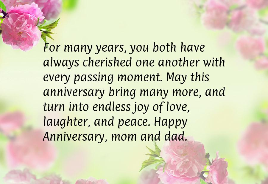 Anniversary quotes parents