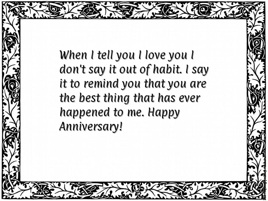 Marriage anniversary quote