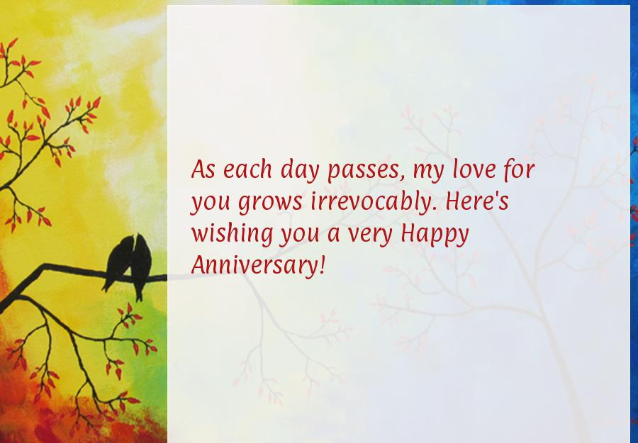 Wedding anniversary message to my wife