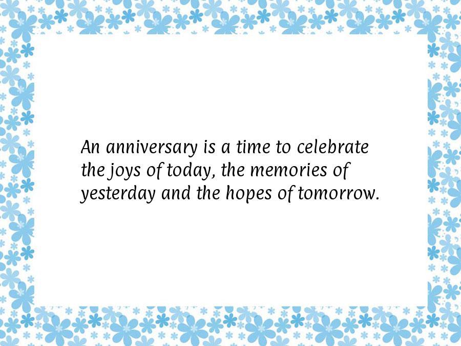 topic what anniversaries celebrate