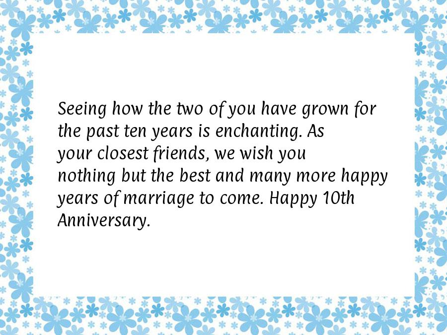 10 year anniversary quotes
