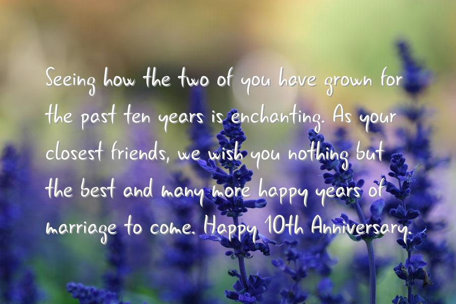 10th wedding anniversary wishes