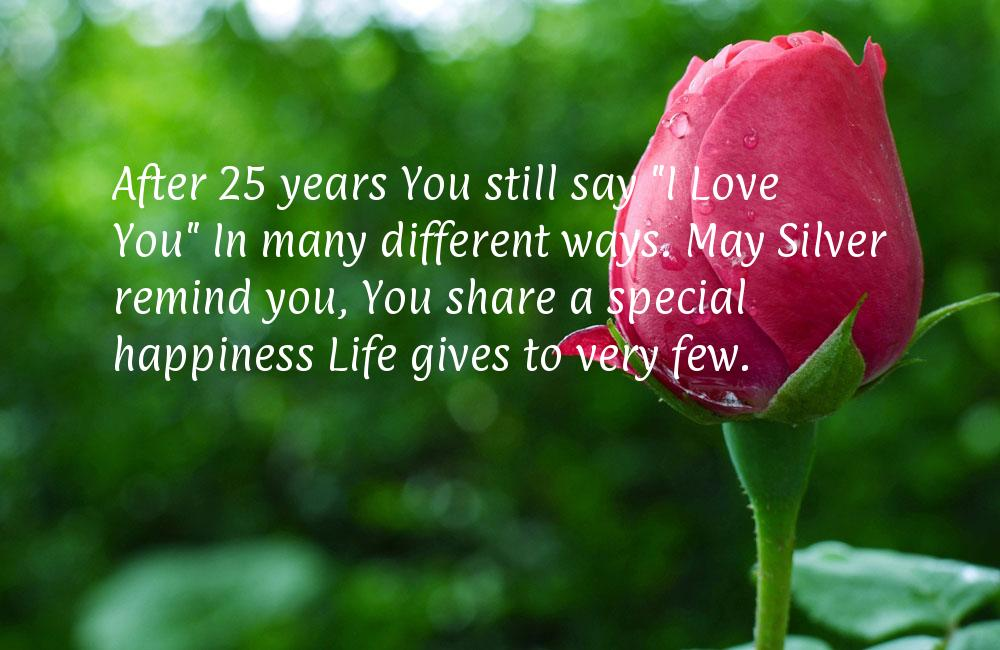 25th marriage anniversary quotes