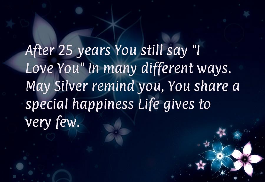 25 anniversary wishes