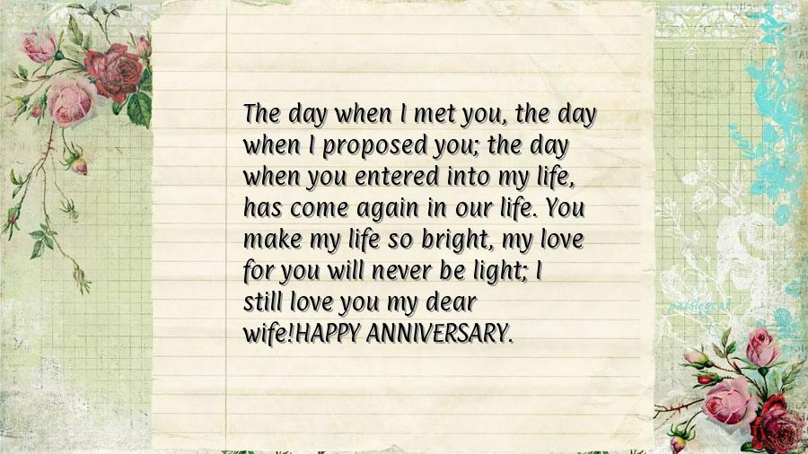Wedding anniversary greetings husband to wife all the best ideas anniversary words for wife m4hsunfo
