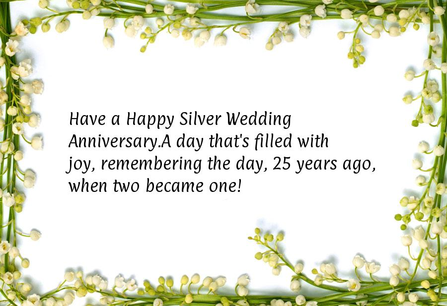Silver Wedding Anniversary Gifts For Parents: Happy 25th Wedding Anniversary Wishes